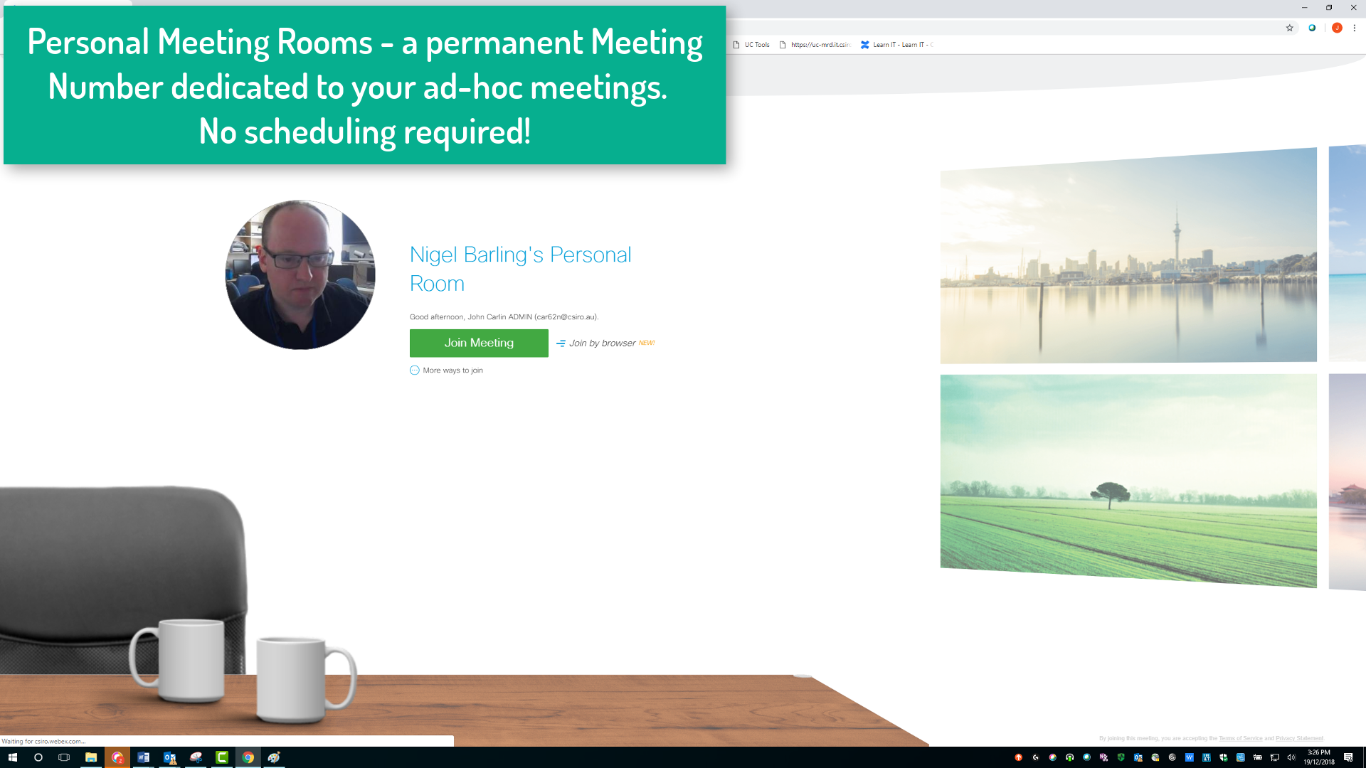 Webex New Video Experience